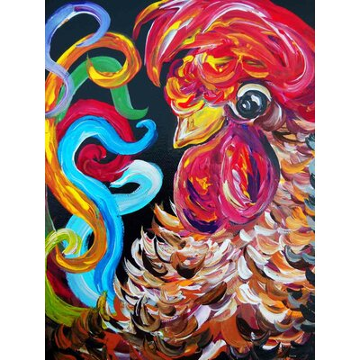 'Just Plain Silly' Acrylic Painting Print on Canvas Size: 24
