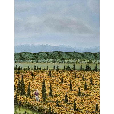 'The Cypress' Acrylic Painting Print on Canvas Size: 24