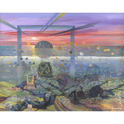 'Lost City of Atlantis 2010' Acrylic Painting Print on Canvas Size: 18