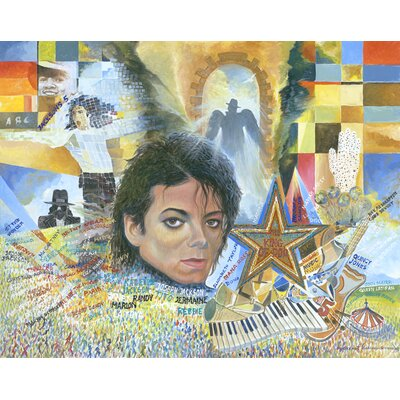 'King of Pop' Acrylic Painting Print on Canvas Size: 18