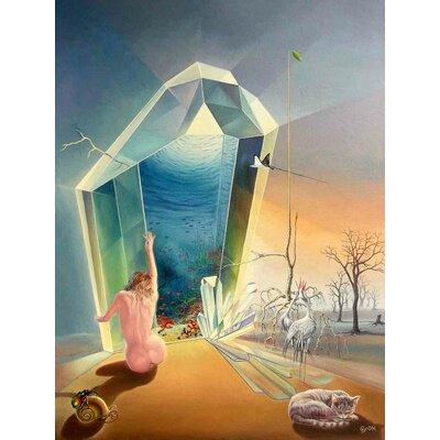 'Le Reve d Ania' Acrylic Painting Print on Canvas Size: 24