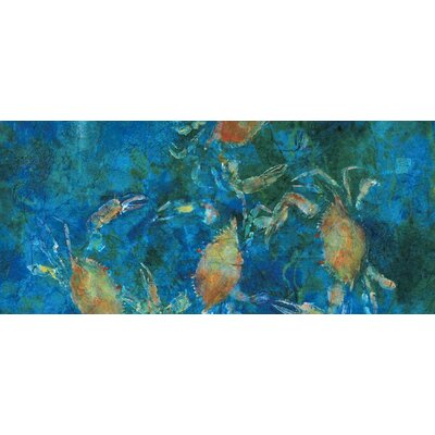 'Blue Crabs' Acrylic Painting Print on Canvas Size: 16