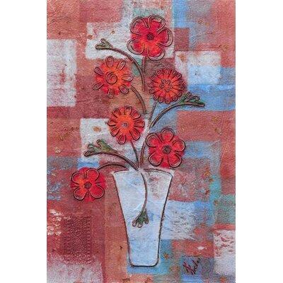 'Vase' Acrylic Painting Print on Canvas Size: 27