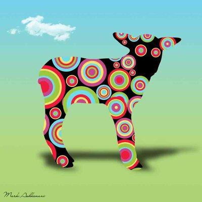 'Lamb' Graphic Art Print on Canvas Size: 18