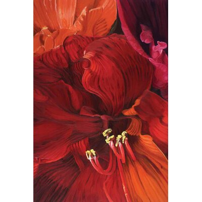 'Amaryllis in Love' Acrylic Painting Print on Canvas Size: 18