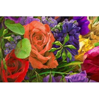 'Roses of Eden' Acrylic Painting Print on Canvas Size: 18