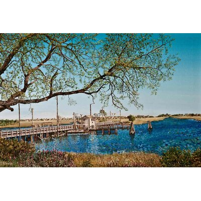 'Official Painting of the Sunset Beach Pontoon Bridge' Acrylic Painting Print on Canvas Size: 18