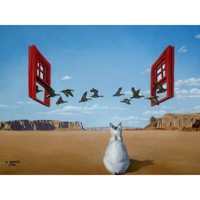'Bird Watcher' Acrylic Painting Print on Canvas Size: 18