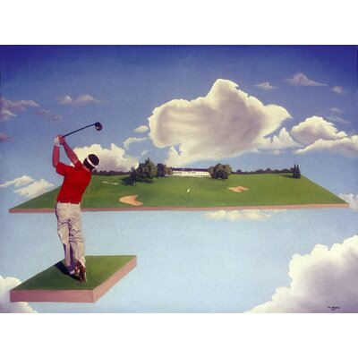 'Joy of Golf' Acrylic Painting Print on Canvas Size: 18