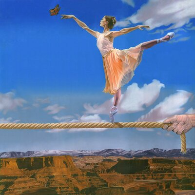 'Rope Dancer' Acrylic Painting Print on Canvas Size: 18