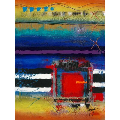 'Vibes of the Tribe II' Acrylic Painting Print on Canvas Size: 24