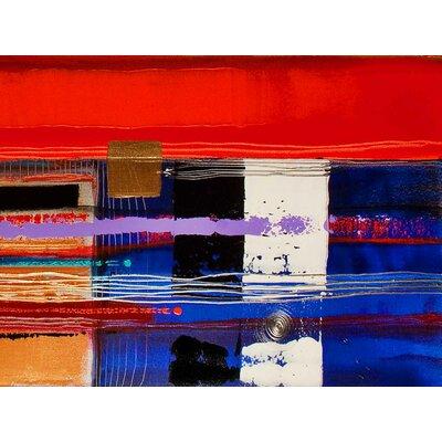 'Many Moons Ago' Acrylic Painting Print on Canvas Size: 18