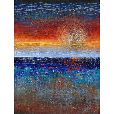 'Sunrise' Acrylic Painting Print on Canvas Size: 24
