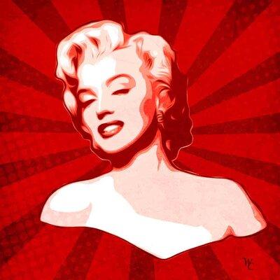 'Marilyn Monroe XIV' Graphic Art Print on Canvas Size: 18