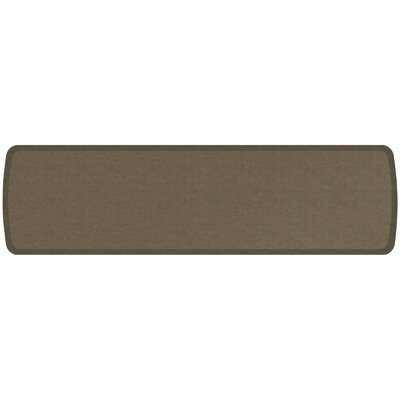 Vintage Leather Elite Premier Comfort Kitchen Mat Mat Size: 18 x 6, Color: Mushroom