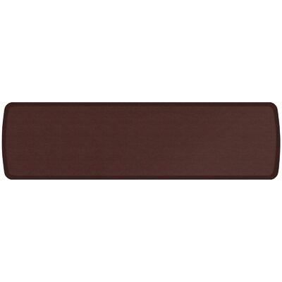 Vintage Leather Elite Premier Comfort Kitchen Mat Mat Size: 18 x 6, Color: Sherry