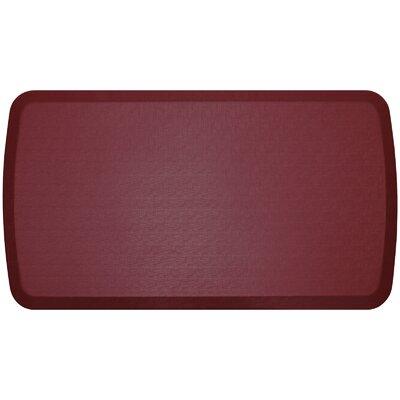 Linen Elite Premier Comfort Kitchen Mat Mat Size: 18 x 3, Color: Cardinal