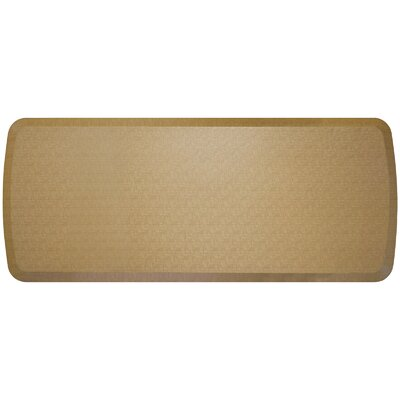 Linen Elite Premier Comfort Kitchen Mat Mat Size: 18 x 6, Color: Sandalwood