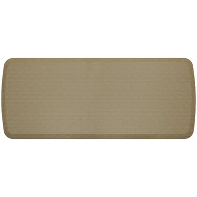 Linen Elite Premier Comfort Kitchen Mat Mat Size: 18 x 6, Color: Khaki