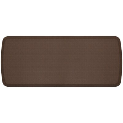 Linen Elite Premier Comfort Kitchen Mat Mat Size: 18 x 4, Color: Truffle