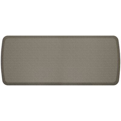Linen Elite Premier Comfort Kitchen Mat Mat Size: 18 x 6, Color: Granite Gray