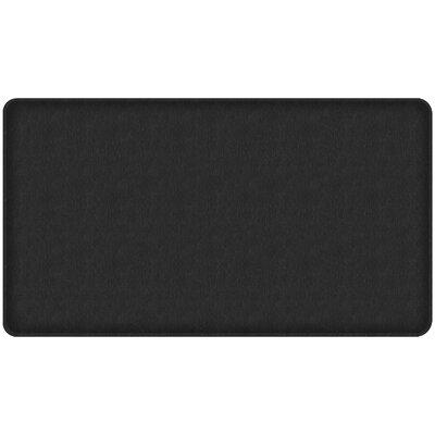 Quill Classic Comfort Kitchen Mat Mat Size: 18 x 3, Color: Black