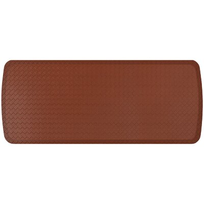 Basketweave Elite Premier Comfort Kitchen Mat Mat Size: 18 x 4, Color: Chestnut