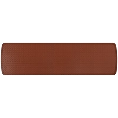 Basketweave Elite Premier Comfort Kitchen Mat Mat Size: 18 x 6, Color: Chestnut