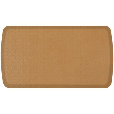 Basketweave Elite Premier Comfort Kitchen Mat Mat Size: 18 x 3, Color: Khaki