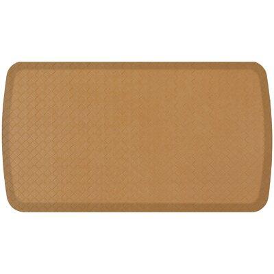 Basketweave Elite Premier Comfort Kitchen Mat Mat Size: 18 x 3, Color: Khaki