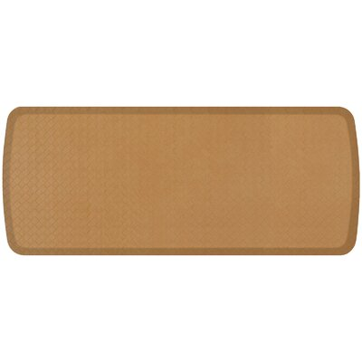 Basketweave Elite Premier Comfort Kitchen Mat Mat Size: 18 x 4, Color: Khaki