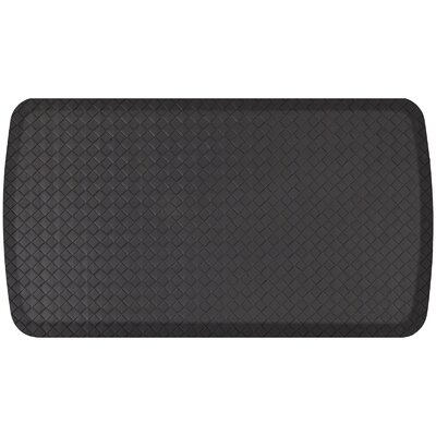 Basketweave Elite Premier Comfort Kitchen Mat Mat Size: 18 x 3, Color: Black
