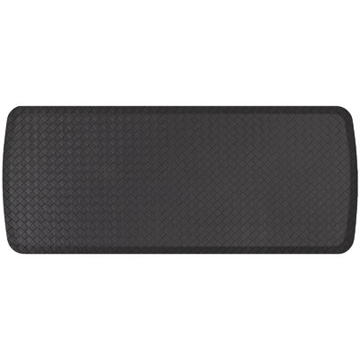 Basketweave Elite Premier Comfort Kitchen Mat Mat Size: 18 x 4, Color: Black