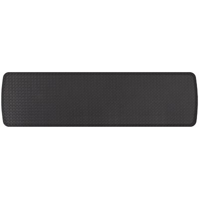 Basketweave Elite Premier Comfort Kitchen Mat Mat Size: 18 x 6, Color: Black