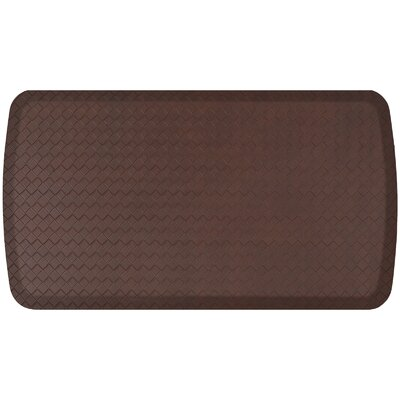 Basketweave Elite Premier Comfort Kitchen Mat Mat Size: 18 x 3, Color: Truffle
