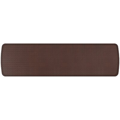 Basketweave Elite Premier Comfort Kitchen Mat Mat Size: 18 x 6, Color: Truffle