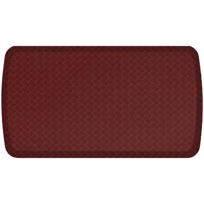 Basketweave Elite Premier Comfort Kitchen Mat Mat Size: 18 x 3, Color: Cranberry