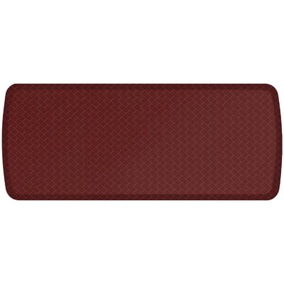 Basketweave Elite Premier Comfort Kitchen Mat Mat Size: 18 x 4, Color: Cranberry