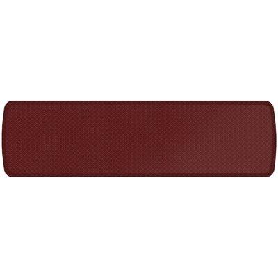 Basketweave Elite Premier Comfort Kitchen Mat Mat Size: 18 x 6, Color: Cranberry