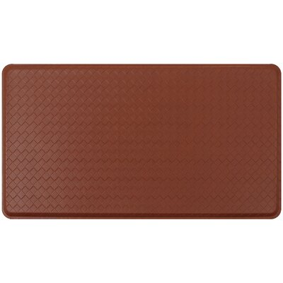 Basketweave Classic Anti-Fatigue Comfort Kitchen Mat Mat Size: 18 x 3, Color: Chestnut