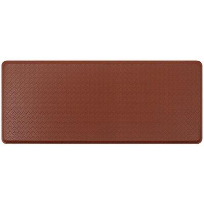 Basketweave Classic Anti-Fatigue Comfort Kitchen Mat Mat Size: 18 x 4, Color: Chestnut