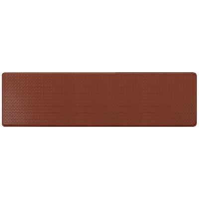 Basketweave Classic Anti-Fatigue Comfort Kitchen Mat Mat Size: 18 x 6, Color: Chestnut