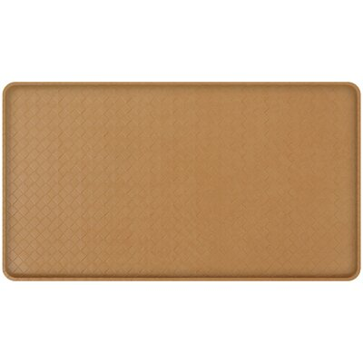 Basketweave Classic Anti-Fatigue Comfort Kitchen Mat Mat Size: 18 x 3, Color: Khaki