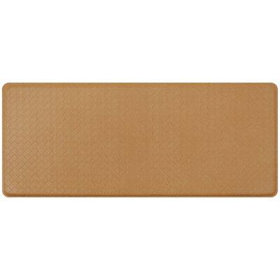 Basketweave Classic Anti-Fatigue Comfort Kitchen Mat Mat Size: 18 x 4, Color: Khaki