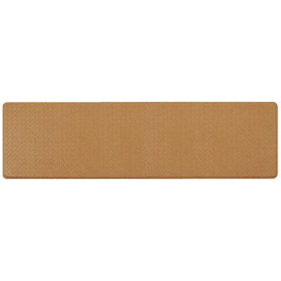 Basketweave Classic Anti-Fatigue Comfort Kitchen Mat Mat Size: 18 x 6, Color: Khaki