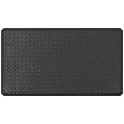 Basketweave Classic Anti-Fatigue Comfort Kitchen Mat Mat Size: 18 x 3, Color: Black