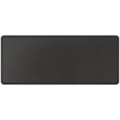 Basketweave Classic Anti-Fatigue Comfort Kitchen Mat Mat Size: 18 x 4, Color: Black