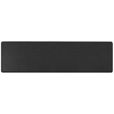 Basketweave Classic Anti-Fatigue Comfort Kitchen Mat Mat Size: 18 x 6, Color: Black
