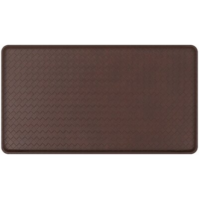 Basketweave Classic Anti-Fatigue Comfort Kitchen Mat Mat Size: 18 x 3, Color: Truffle