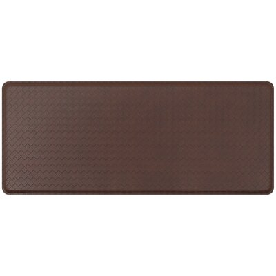 Basketweave Classic Anti-Fatigue Comfort Kitchen Mat Mat Size: 18 x 4, Color: Truffle
